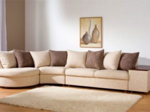 Перетяжка углового дивана на дому в Астрахани